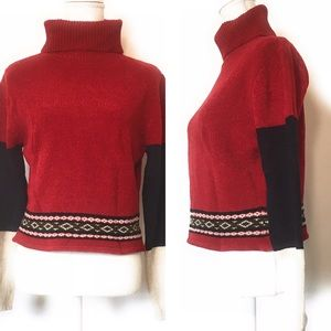 Reference point crop sweater, Sz Large, turtleneck
